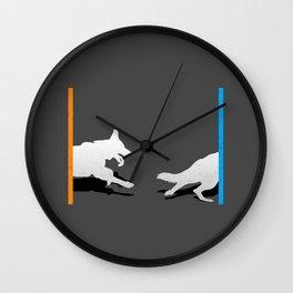 Portal Dog Wall Clock