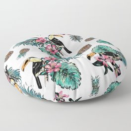 Tucan Tropical Pattern Floor Pillow