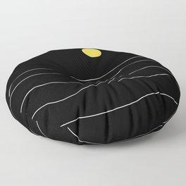 Black Ocean Floor Pillow