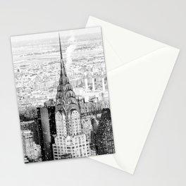Snow - New York City - Chrysler Building Stationery Cards
