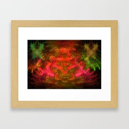 Luminous Fireplace Framed Art Print
