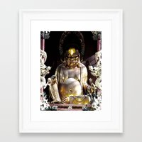 nirvana Framed Art Prints featuring NIRVANA by AlehandroMariaRizla