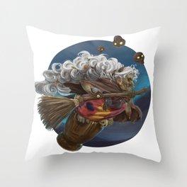 Witch Baba Yaga Throw Pillow