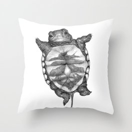 Little Turtle Throw Pillow
