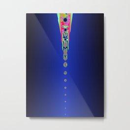 Drops of Colour (Dark Blue a12) Metal Print
