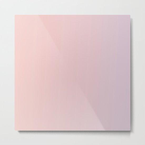Coral Pink Peach Sunset Gradient Metal Print