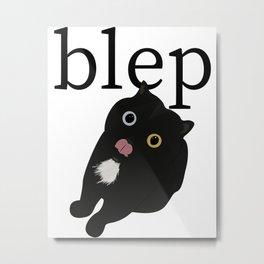 Cat blep Metal Print