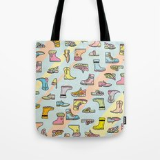 Colorful Shoes Cartoon Patterns Tote Bag