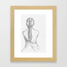 Seated Female Framed Art Print