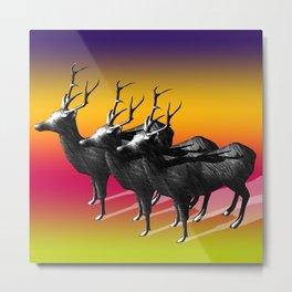 Deer on colorful background Metal Print