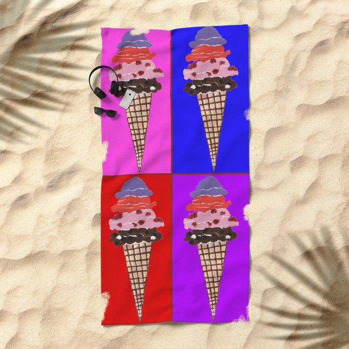 Time For Ice Cream Beach Towel