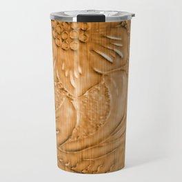 Golden Tan Tooled Leather Travel Mug