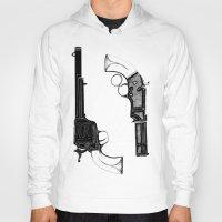 guns Hoodies featuring Two Guns by Broenner