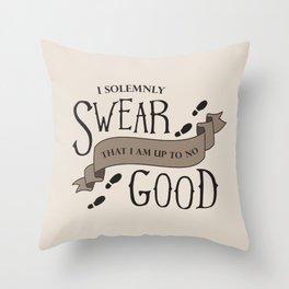 Up to No Good Throw Pillow