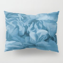 Midnight Blue Petal Ruffle Abstract Pillow Sham