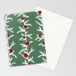 Scandinavian winter forest Stationery Cards