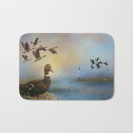 Lighthouse In Time Bath Mat