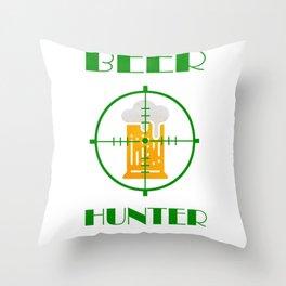 beer hunter Throw Pillow