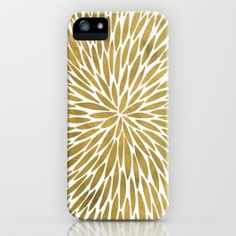 Golden Burst iPhone Case