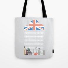 Raining Over London Tote Bag