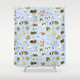 Guinea Pig Party! - Cavy Cuddles and Rodent Romance Shower Curtain