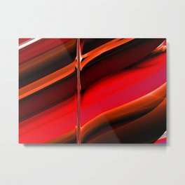 red abstract pattern Metal Print