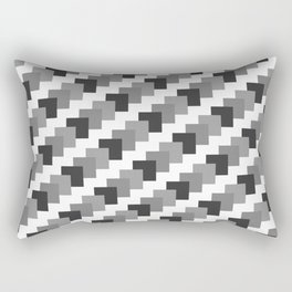 Retro Black and White Rectangular Pillow