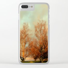 TREES AT SUNSET 3 Clear iPhone Case
