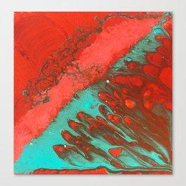 LAVA | Fluid acrylic art by Natalie Burnett Art Canvas Print
