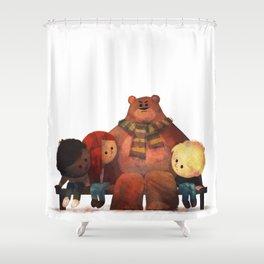 Bus Stop Friends Shower Curtain