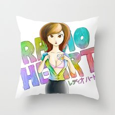 Radioheart Throw Pillow