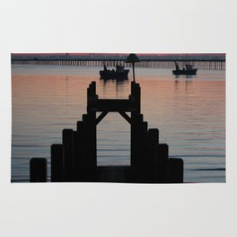 Down to the sunset sea Rug