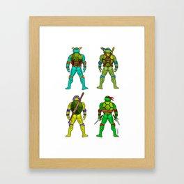 Superhero Butts - Turtles Framed Art Print