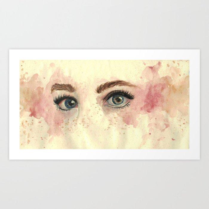 The gaze Kunstdrucke