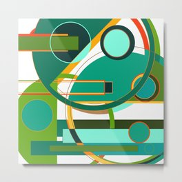 D is for Deco: Abstract Art Deco Font Typography Metal Print
