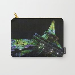Eiffel Tower at Night with Coloured Lights Carry-All Pouch