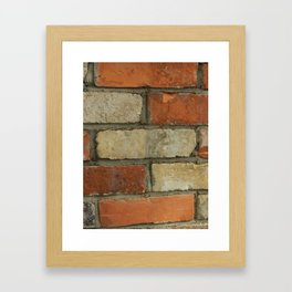 EVER HIT A BRICK WALL? Framed Art Print