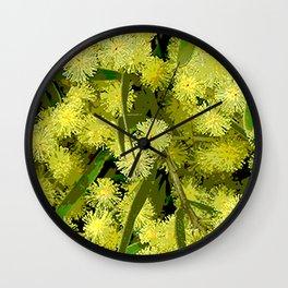 Wattle Wall Clock