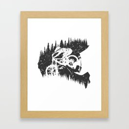 Black Fullface Framed Art Print