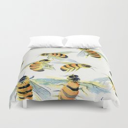 All About Bees Duvet Cover