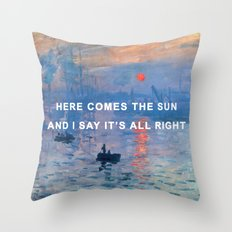 Here Comes the Impression, Sunrise Throw Pillow
