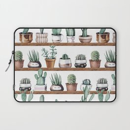 Cactus Shelf Rose Gold Green Laptop Sleeve