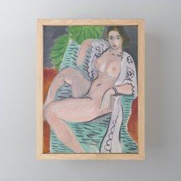 Henri Matisse - Draped Nude, Paris '36 portrait painting Framed Mini Art Print