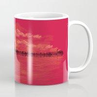 sunset Mugs featuring Musical Sunset by dan elijah g. fajardo