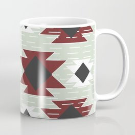Lines and maroon shapes Coffee Mug