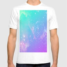 galaxy pastel MEDIUM Mens Fitted Tee White