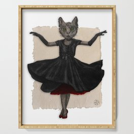Twirling, Twirling, Couture Kitty Serving Tray