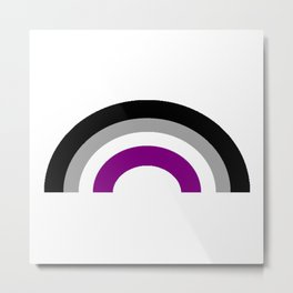 Asexual Rainbow Metal Print
