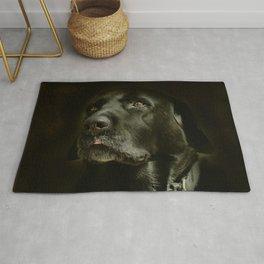 Black Dog Rug