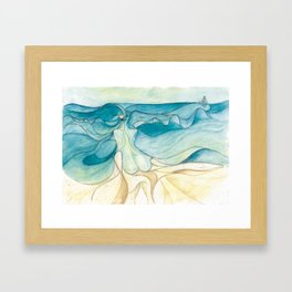 Nude at the sea Framed Art Print
